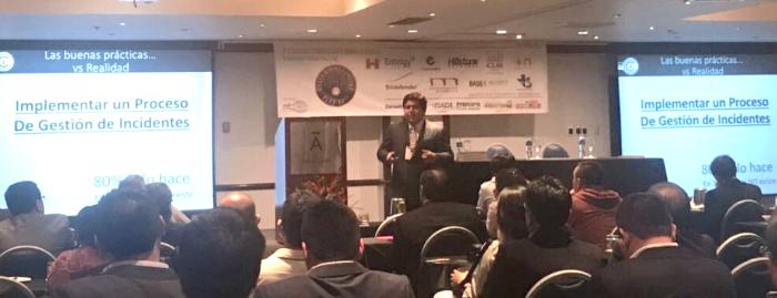 El coordinador del CCI en Perú, Ernesto Landa, ha participado en la tercera edición del Congreso Cybersecurity Mining & Energy celebrado en Lima