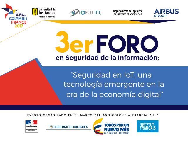 El Experto CCI y Coordinador del Centro en Colombia, Diego Zuluaga, participa en el 3er Foro en Seguridad de la Información